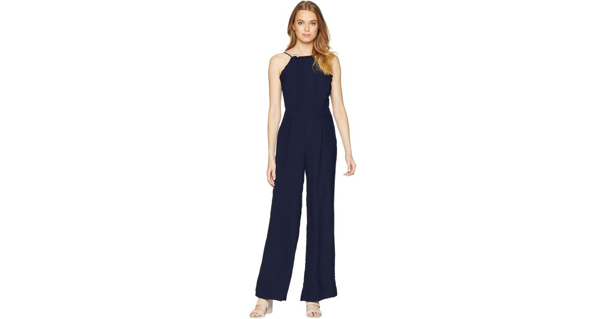 d104a0ccb3e6 Lyst - Adelyn Rae Woven Apron Style Jumpsuit (navy) Women s Jumpsuit    Rompers One Piece in Blue