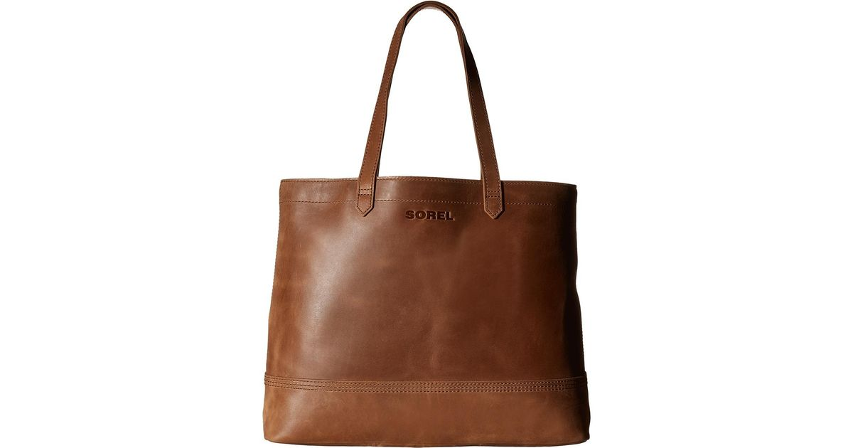 f771bc4d68 Lyst - Sorel Leather Tote