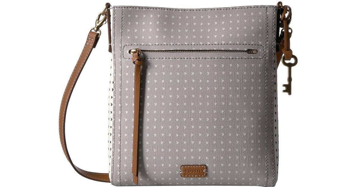 Lyst - Fossil Emma North south Crossbody in Gray a7db73de42
