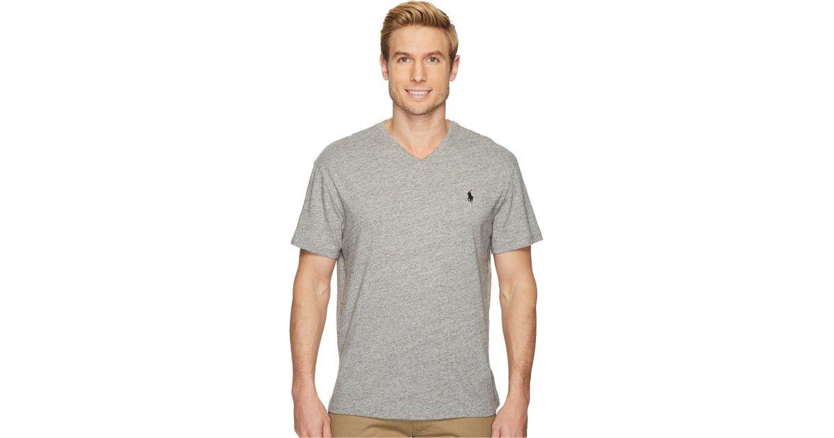882b7a9d Polo Ralph Lauren Classic V-neck T-shirt (ink) Men's T Shirt in Gray for Men  - Lyst