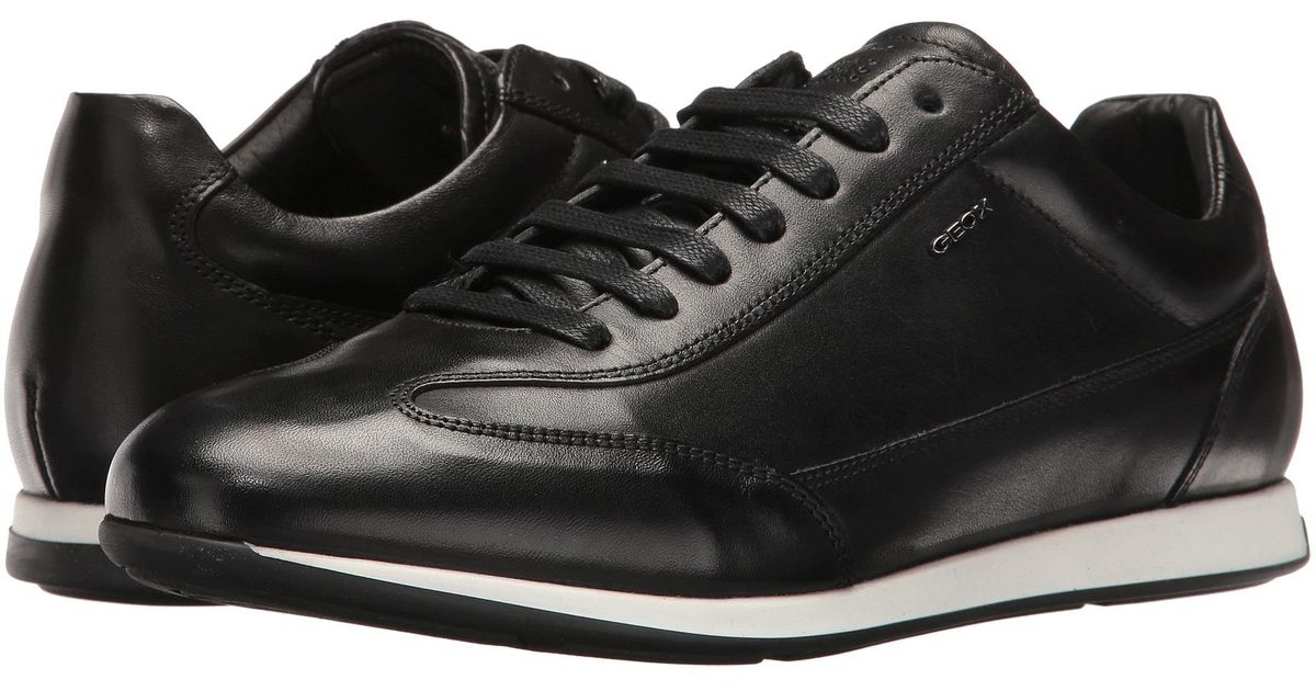Geox Leather M Clemet 1 in Black for