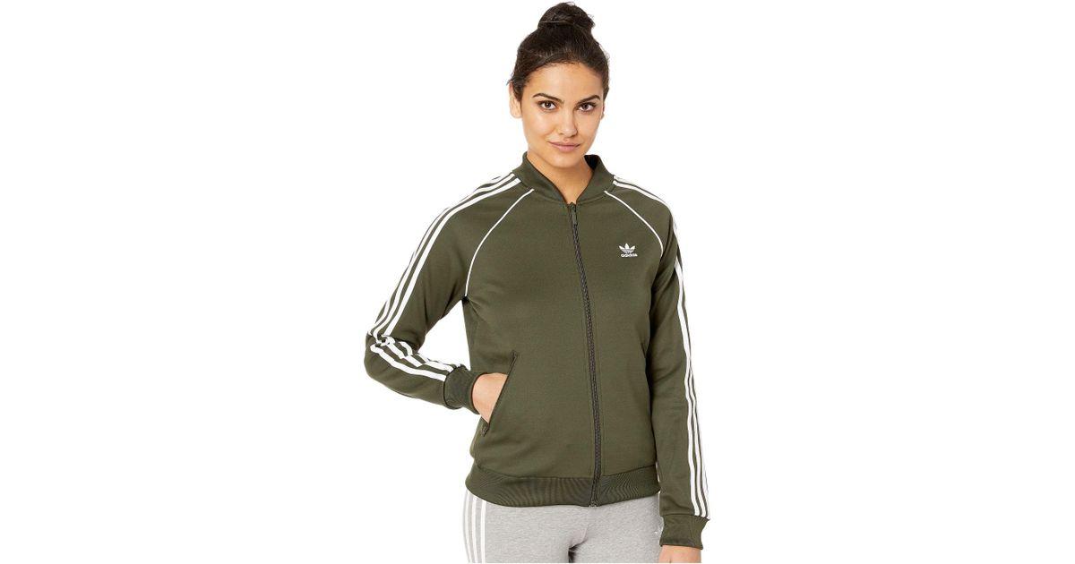 5098fd5e6a Adidas Originals Green Sst Track Jacket (multicolor 2) Women's Coat