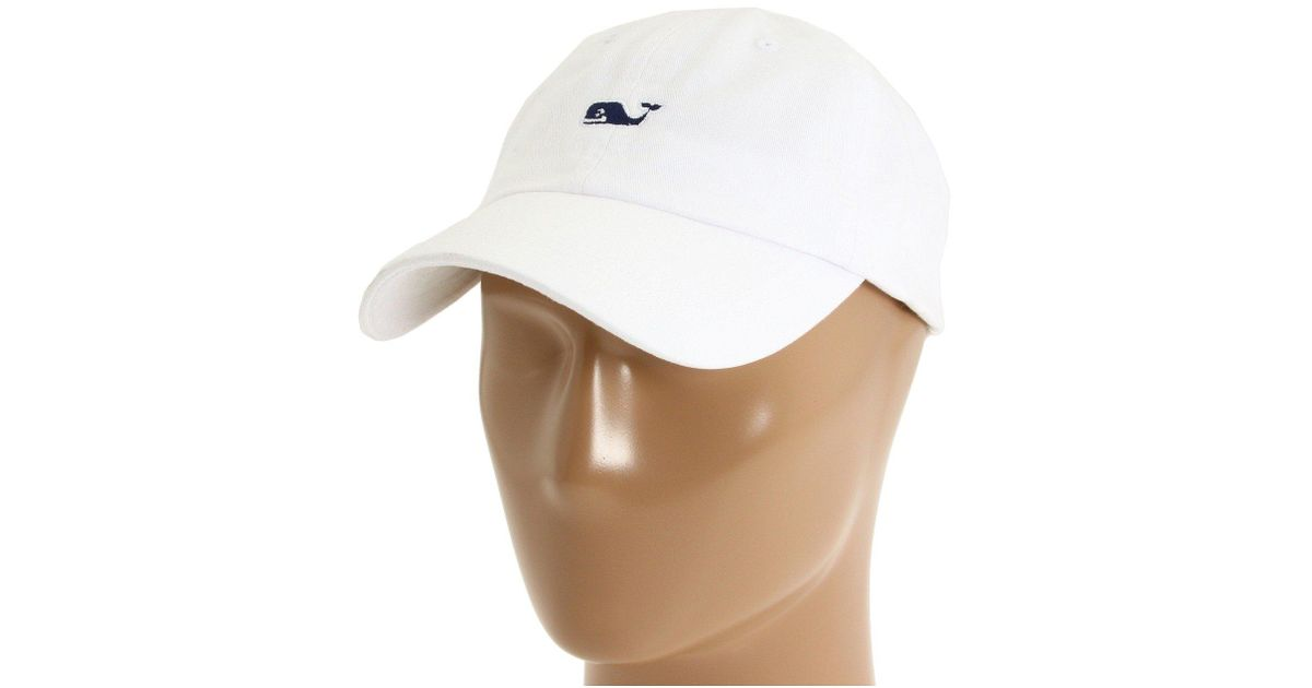 3f2ba7d0176d4 Lyst - Vineyard Vines Whale Logo Baseball Hat (aqua Blue) Caps in White for  Men