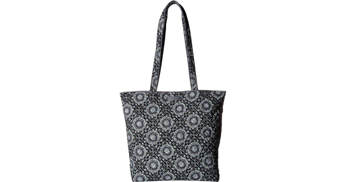 ebcaba17900d Lyst - Vera Bradley Iconic Tote Bag (classic Navy) Tote Handbags in Black