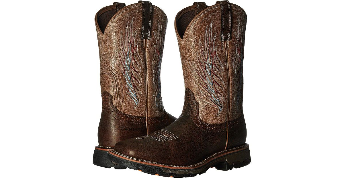 355eab365385 Lyst - Ariat Workhog Mesteno Ii (rustic Brown stone) Cowboy Boots in Brown  for Men