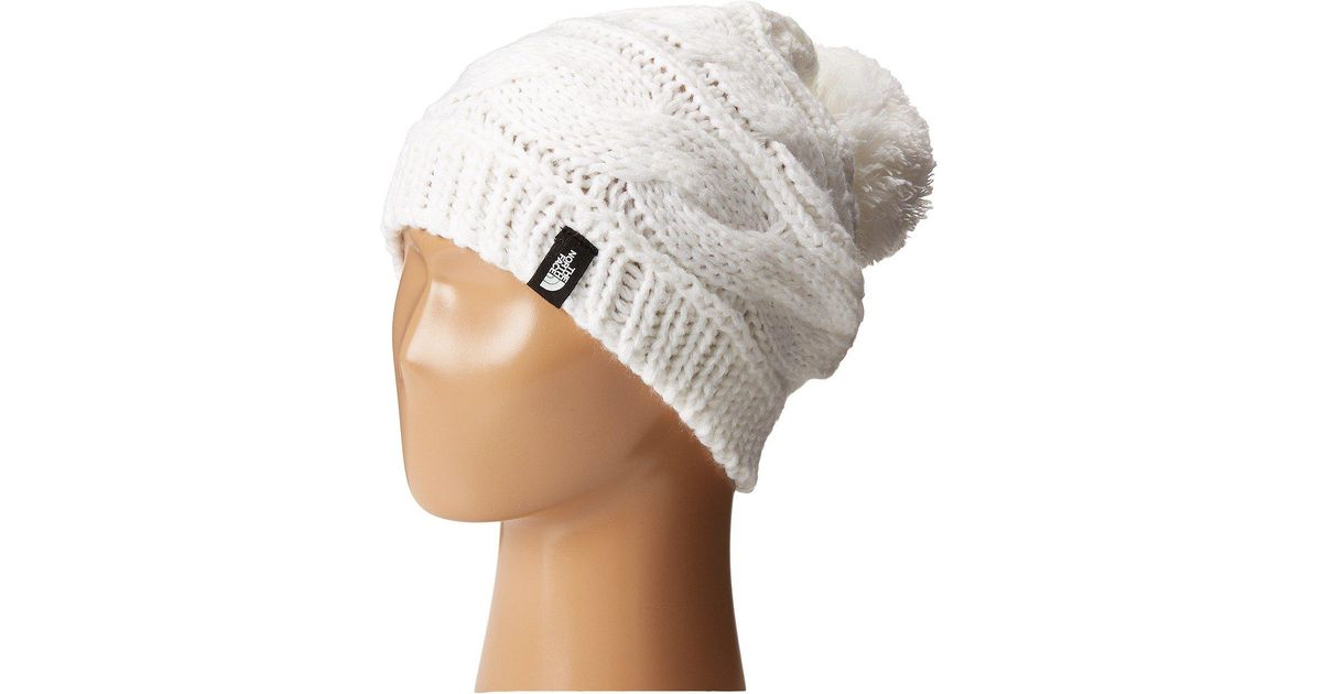 da428a5ac8a79 The North Face Triple Cable Pom Beanie in White - Lyst