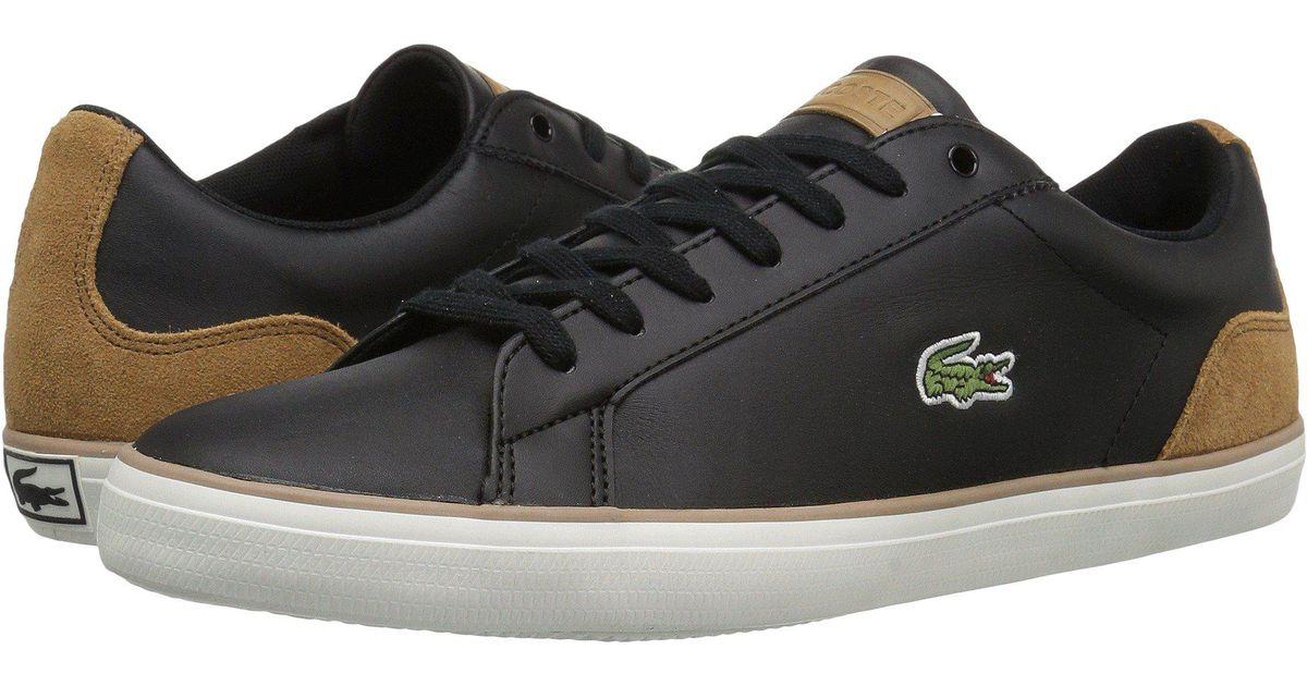 0b7ad6dd66ce0 Lyst - Lacoste Lerond 118 1 (black light Brown) Men s Shoes in Black for Men
