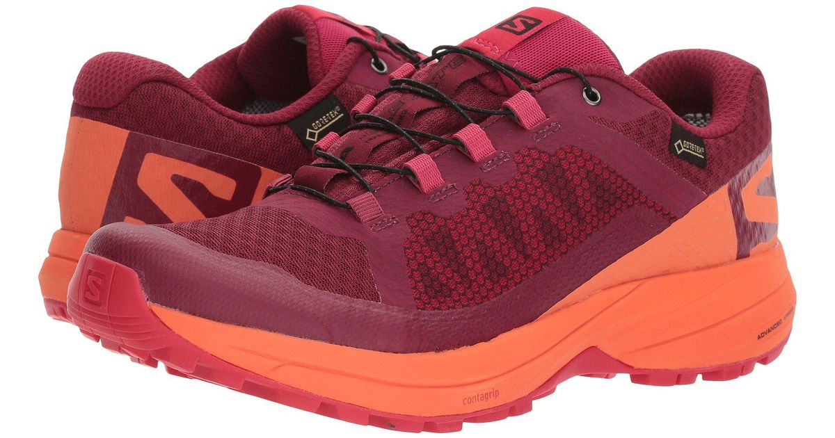 7b6ceed9dbf8 Lyst - Yves Salomon Xa Elevate Gtx(r) (mallard Blue atlantis reflecting  Pond) Women s Shoes in Red - Save 38.28125%