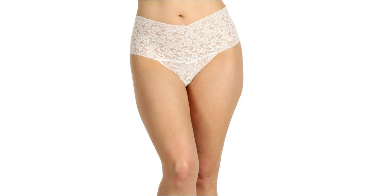 979bfe0a3 Hanky Panky Plus Size Signature Lace Retro Thong (black) Women s Underwear  in Natural - Lyst
