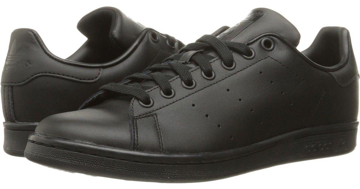 a66943c82848a Lyst - adidas Originals Stan Smith (black 1 black 1 black 1) Men s Tennis  Shoes in Black for Men