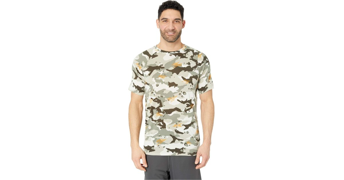 a2baa809640f Lyst - Nike Dry Legend Tee Camo All Over Print (white black) Men s Clothing  in Gray for Men