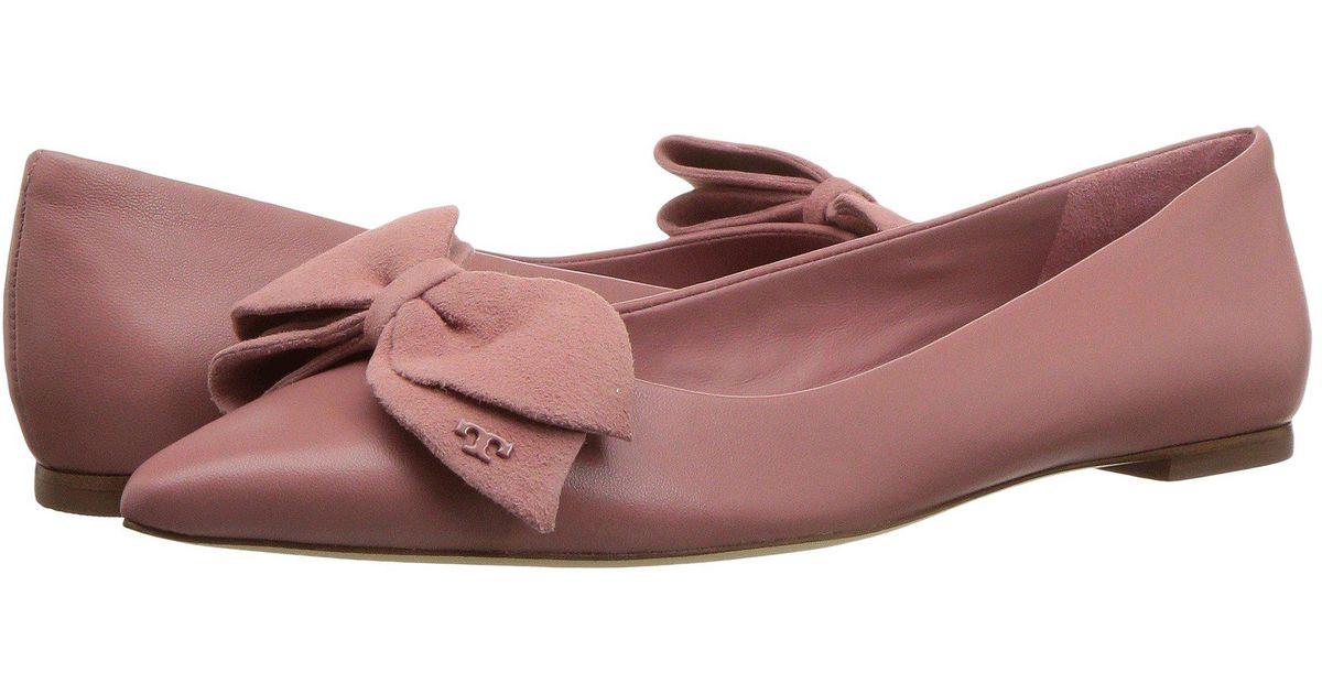0a20d76888a8 Lyst - Tory Burch Rosalind Ballet Flat in Pink