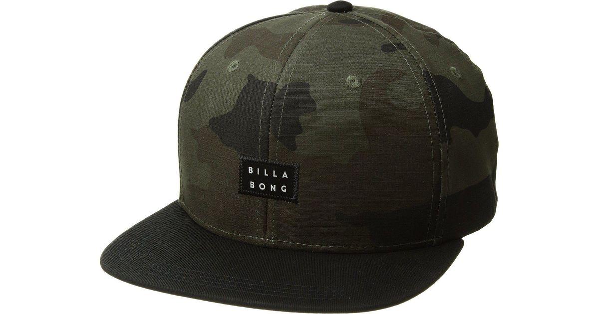 5c2512fe3b19 Billabong - Green Primary Snapback Hat for Men - Lyst
