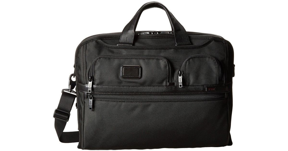 Lyst Tumi Alpha 2 Compact Large Screen Laptop Brief Black Computer Bags In For Men