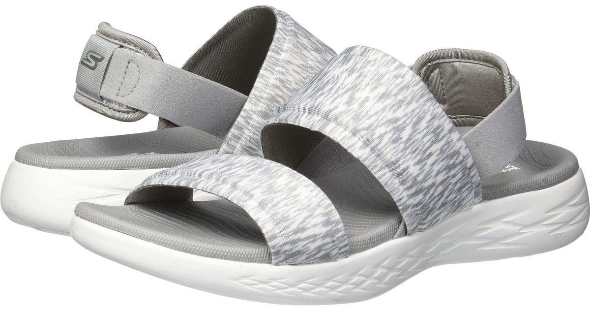 d6fdd0948741 Lyst - Skechers On-the-go 600 - Foxy (black) Women s Shoes in Gray