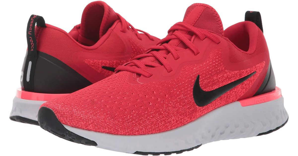 25c97043a4 Lyst - Nike Odyssey React Running Shoes in Red for Men
