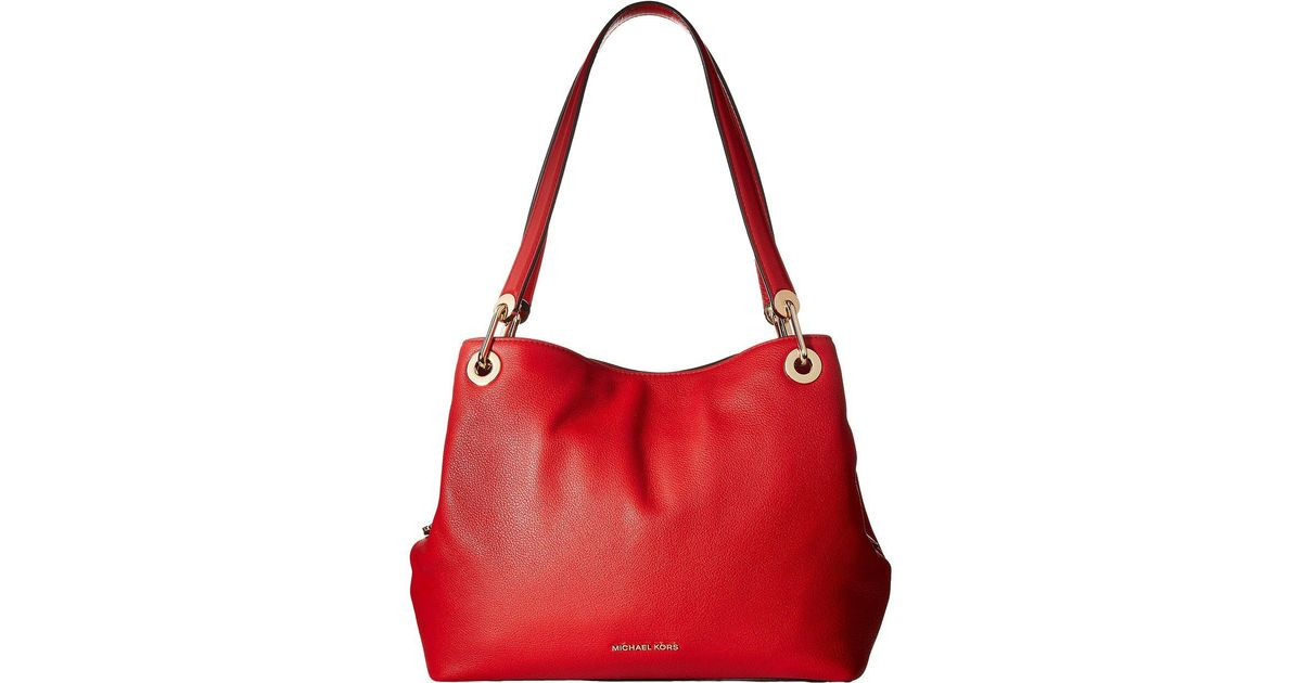 135ff393545f MICHAEL Michael Kors Raven Large Shoulder Tote in Red - Lyst