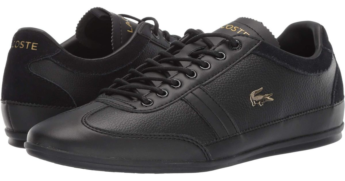 6ba13d8fb Lyst - Lacoste Misano 119 2 U Cma (black black) Men s Shoes in Black for Men