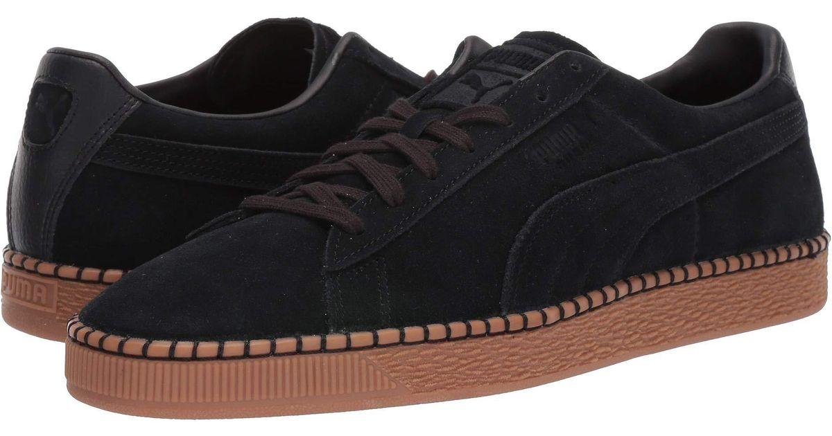 PUMA Black Suede Classic Blanket Stitch (whisper Whitegum) Shoes for men