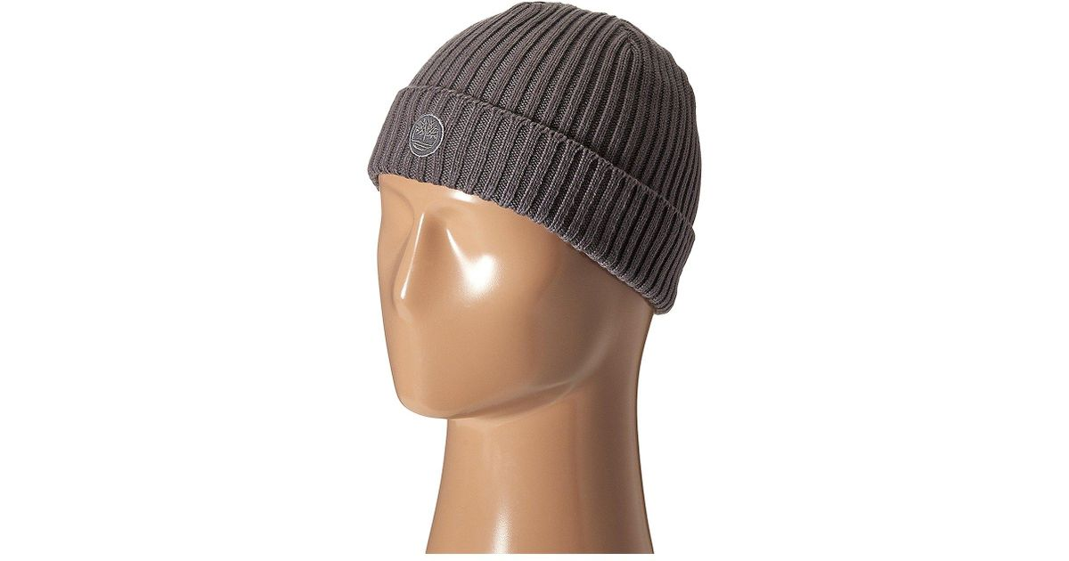 d4e911de Timberland Th340113 Fitted Knit Watch Cap in Gray for Men - Lyst