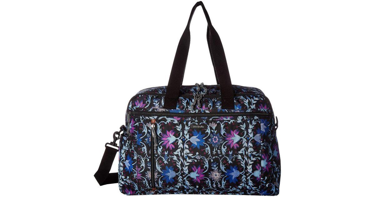 f617b5d38b Lyst - Vera Bradley Lighten Up Weekender Travel Bag (petite Vines) Bags