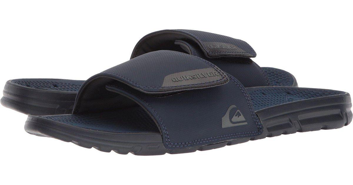 d26aa46235f Lyst - Quiksilver Amphibian Adjust Slide Sandal in Blue for Men - Save 45%