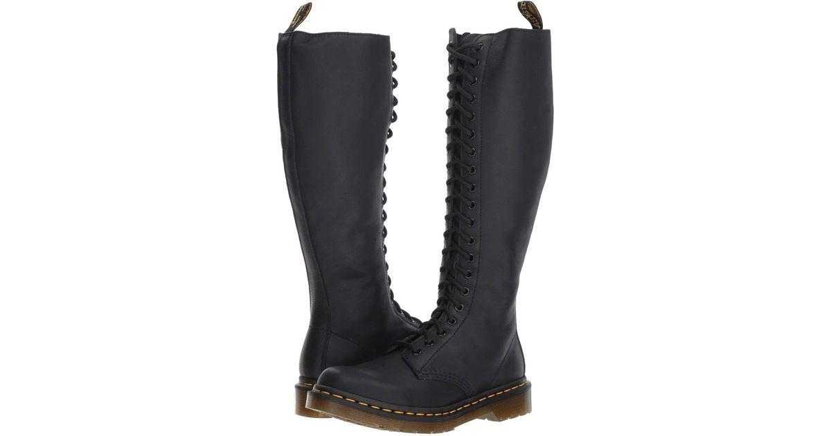 874ee41c7e4 Lyst - Dr. Martens 1b60 20-eye Zip Boot (black Virginia) Women s Boots in  Black