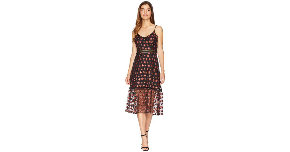 fb5b78b8517 Lyst - Jack BB Dakota Magic Hour Embroidered Mesh Dress With Ribbon Trim in  Black