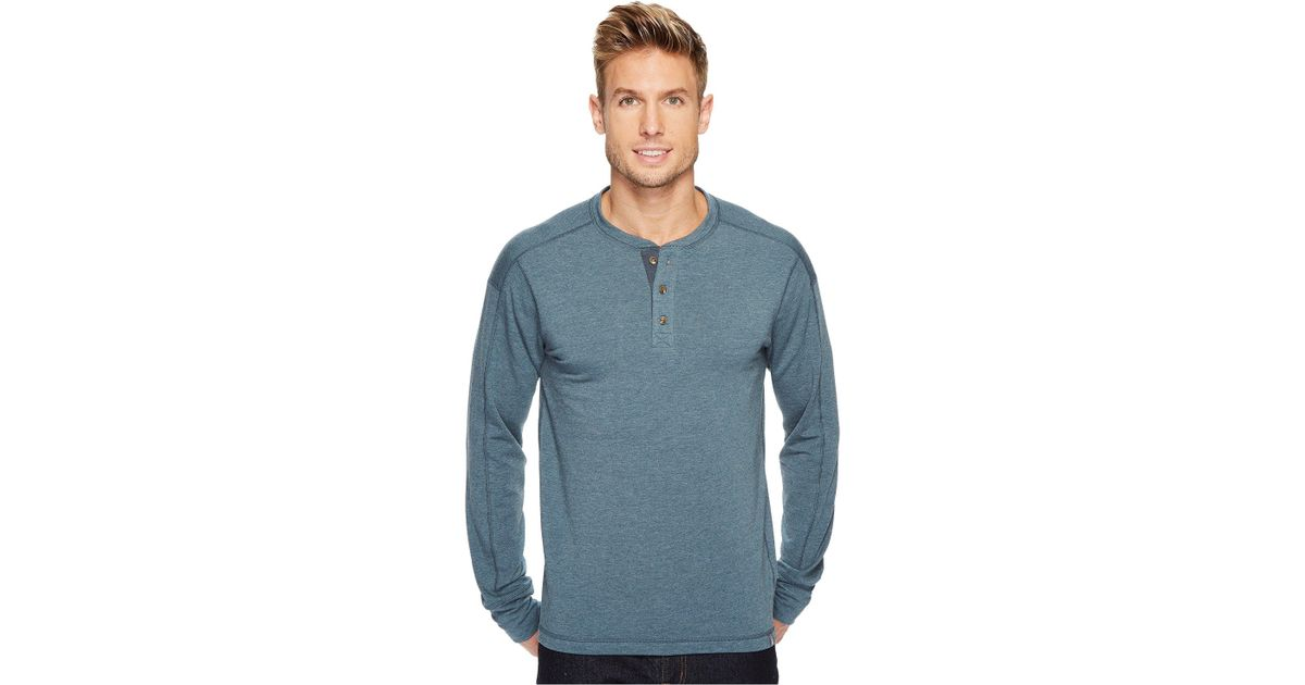 f3fdd9b4e The North Face Blue Long Sleeve Terry Henley for men