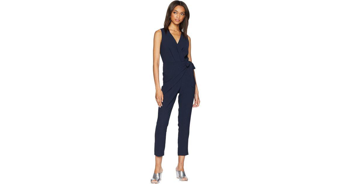 350b98716b0b Adelyn Rae - Blue Rainelle Sleeveless Wrap Jumpsuit - Lyst