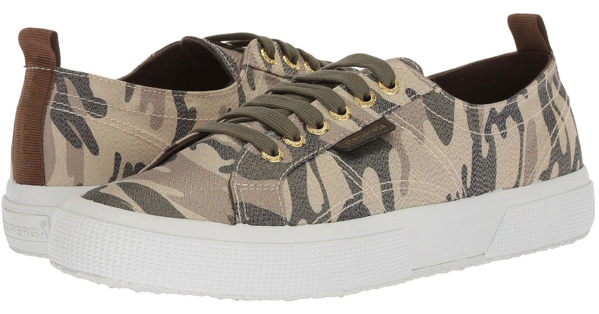 new style 25061 7d689 Superga Multicolor 2750 Lamecamow Sneaker (camouflage) Women's Shoes
