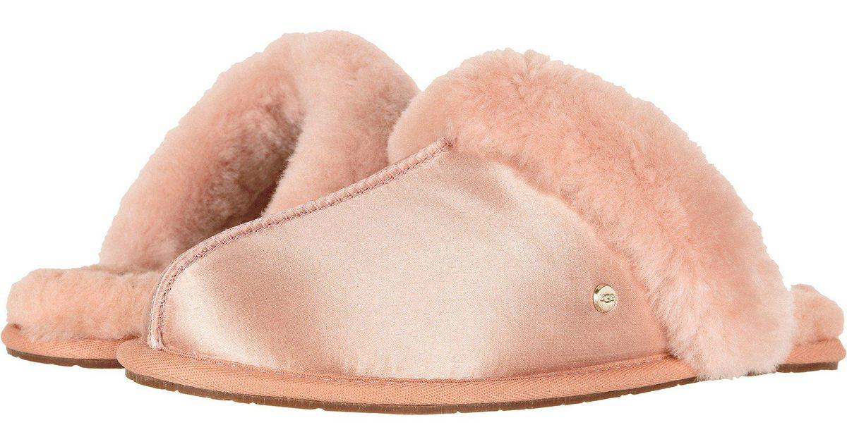 08cf8510ec7 Ugg Pink Scuffette Ii Satin (suntan) Women's Slippers
