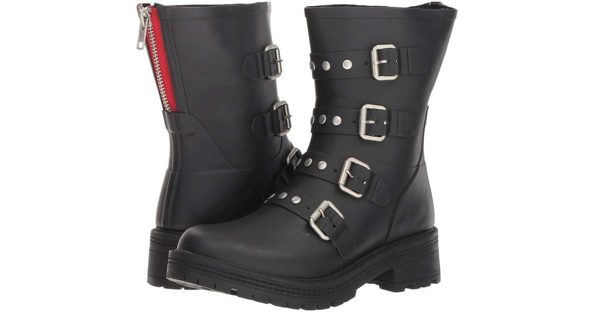 8b1c34b1319 Lyst - Steve Madden Thunder Rain Boot (black) Women s Boots in Black - Save  46%
