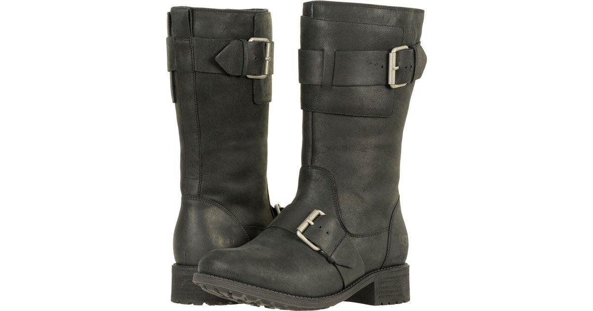 UGG Leather Chancey (black) Women's