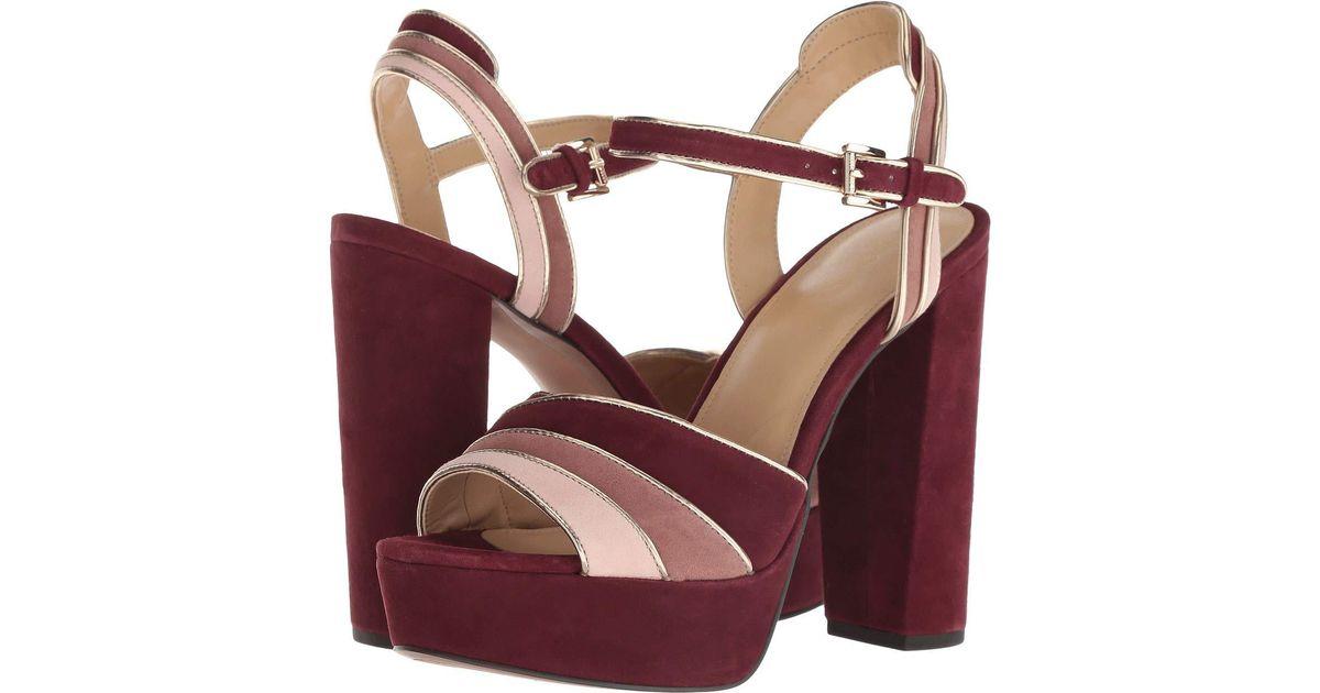 17edd09e4d63 Lyst - MICHAEL Michael Kors Harper Platform (oxblood Multi Kid Suede mirror  Metallic) High Heels