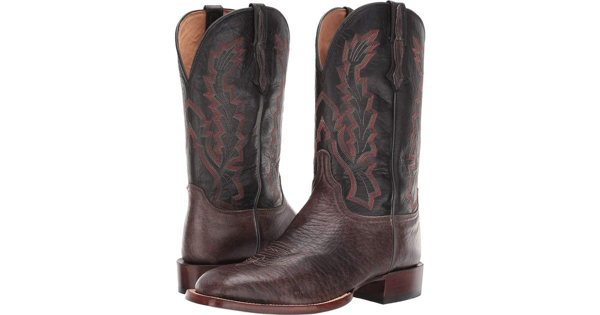 492c89dde30 Lucchese Multicolor Bond (grey/black Elk) Cowboy Boots for men