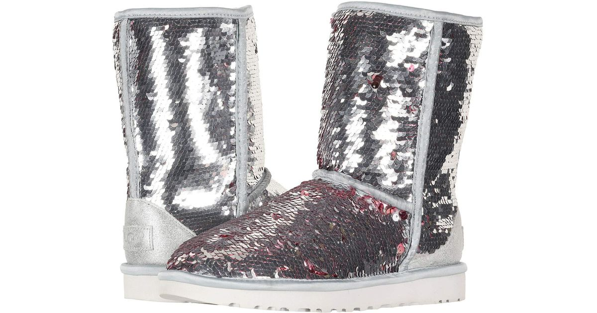a5445b8a7f8 Ugg Metallic Classic Short Sequin (navy) Women's Pull-on Boots