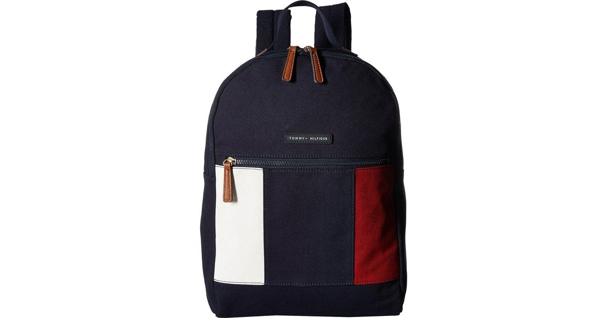 47b6fac1bea18 Lyst - Tommy Hilfiger Th Flag Canvas Backpack in Blue