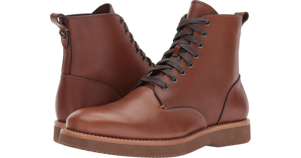 COACH Derby Boot Leather (dark Saddle) Men's Boots in Brown for Men - Lyst