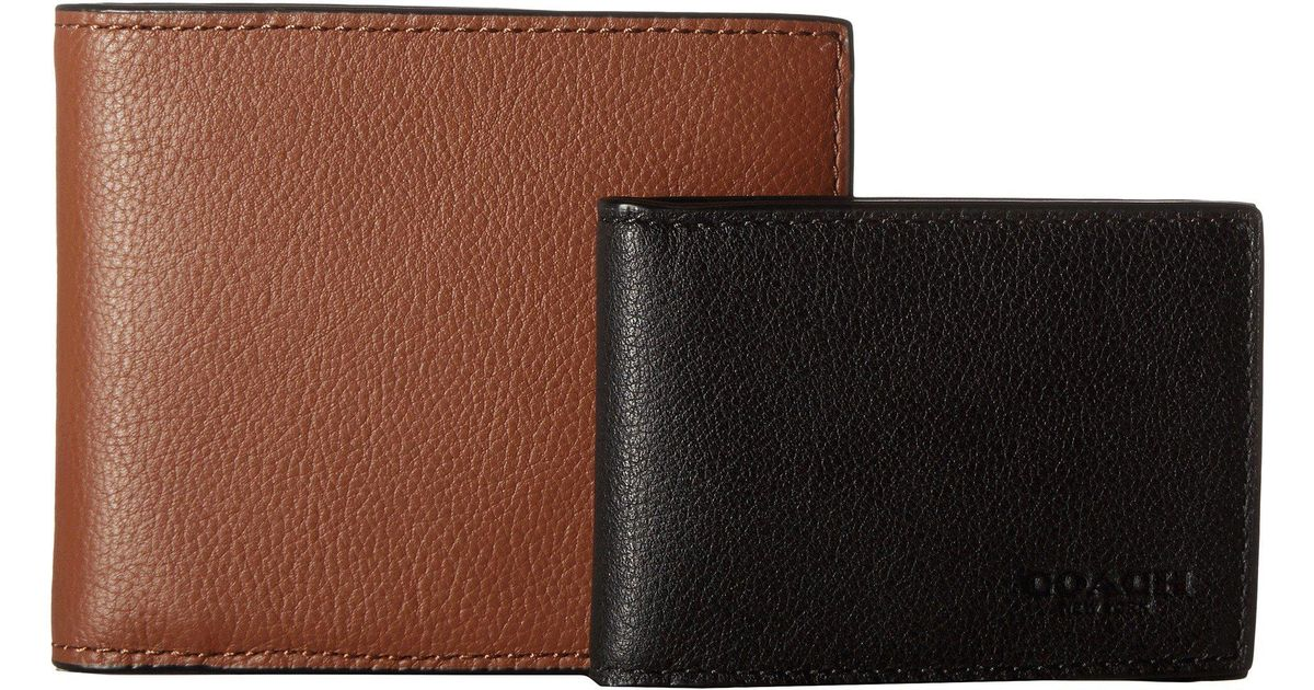 de2be68d17b28 ... coupon for lyst coach leather 3 in 1 wallet set midnight black wallet  handbags in brown
