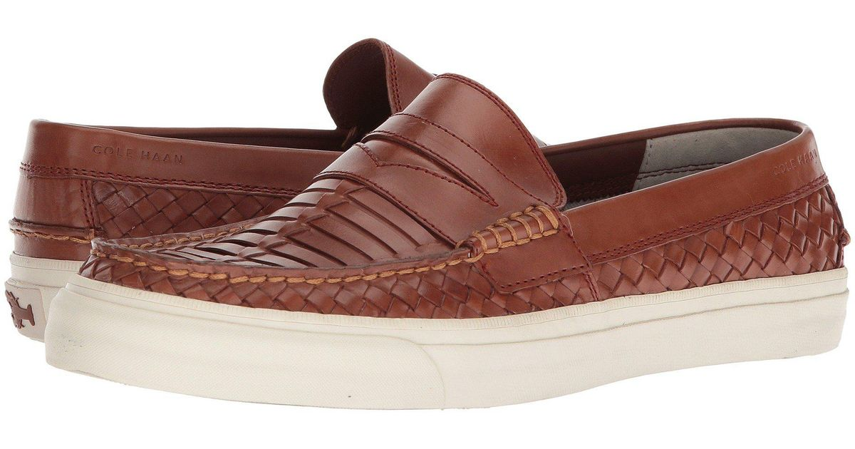 7ba9b7397662b Lyst - Cole Haan Pinch Weekender Luxe Huarache Loafer in Brown for Men -  Save 50%