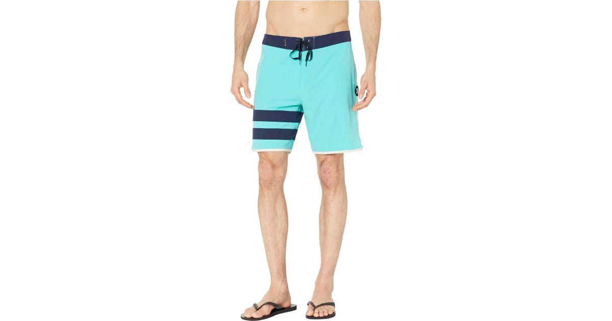 441de7bd8d Hurley Blue Phantom Block Party Solid Board Shorts for men