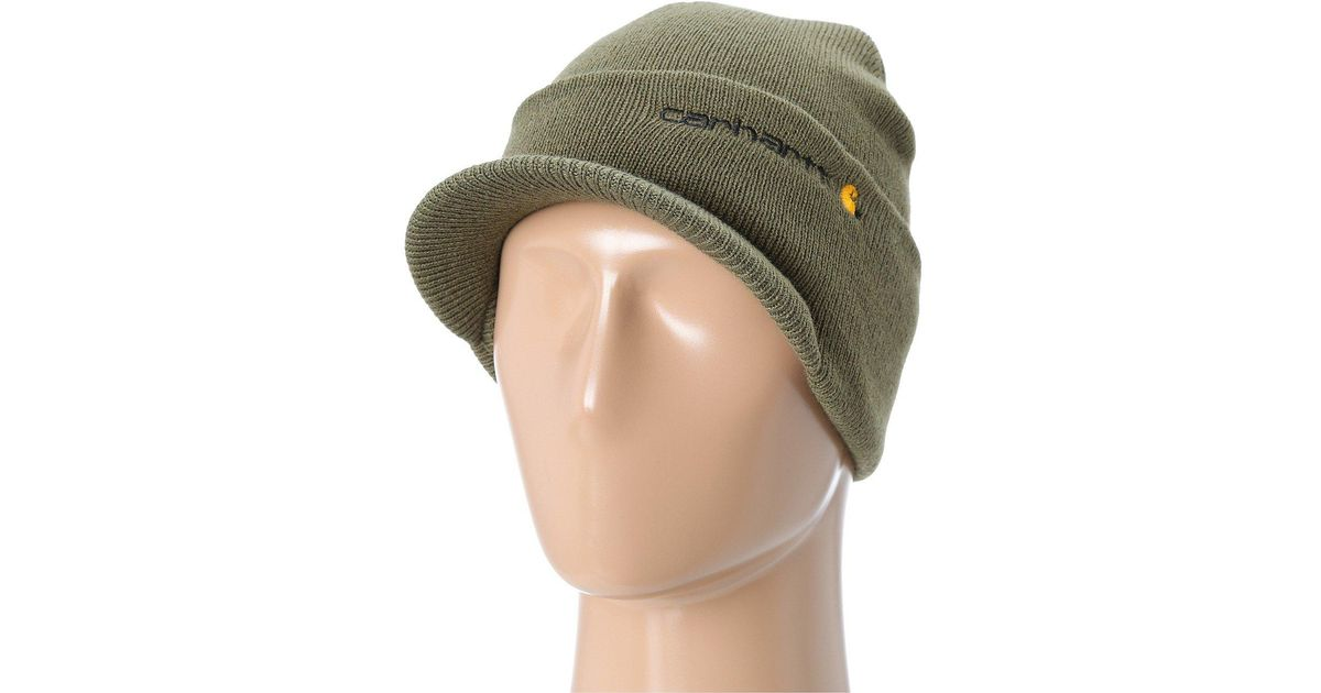 Lyst - Carhartt Knit Hat With Visor (army Green) Caps in Green for Men 557e7510ee1