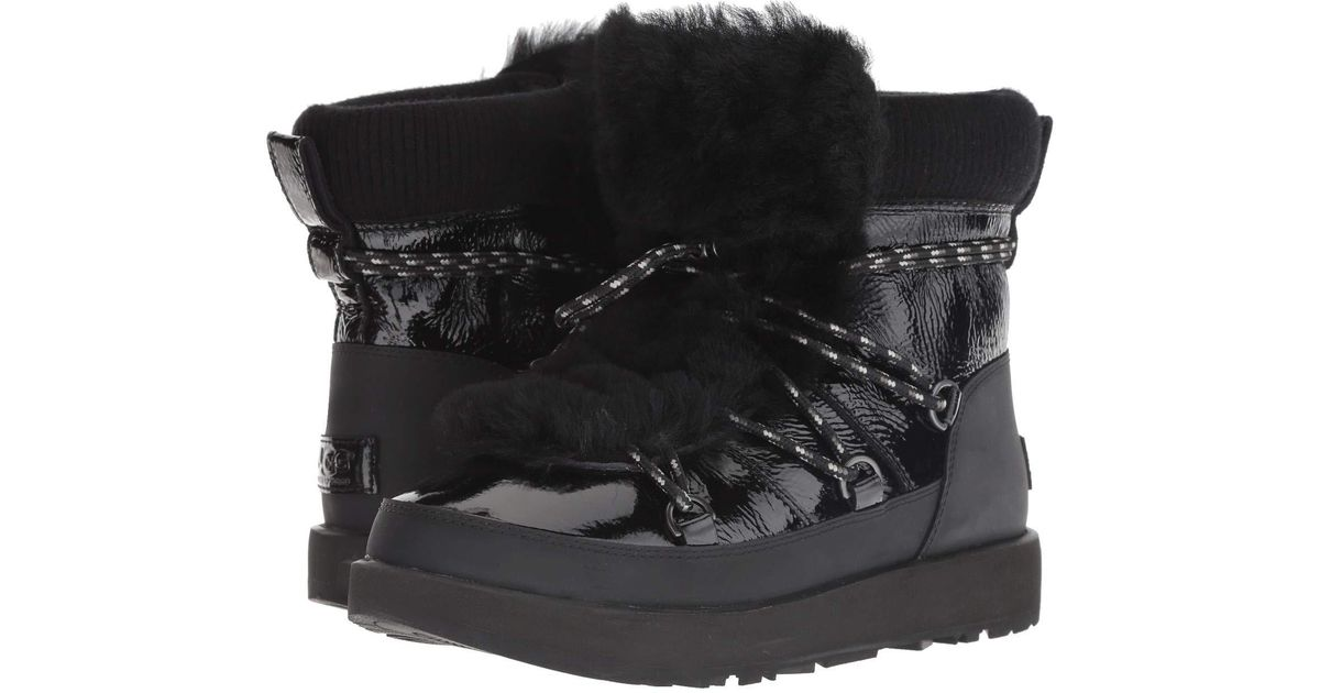 6b9840422c8 Ugg Highland Waterproof Boot (black) Women's Cold Weather Boots