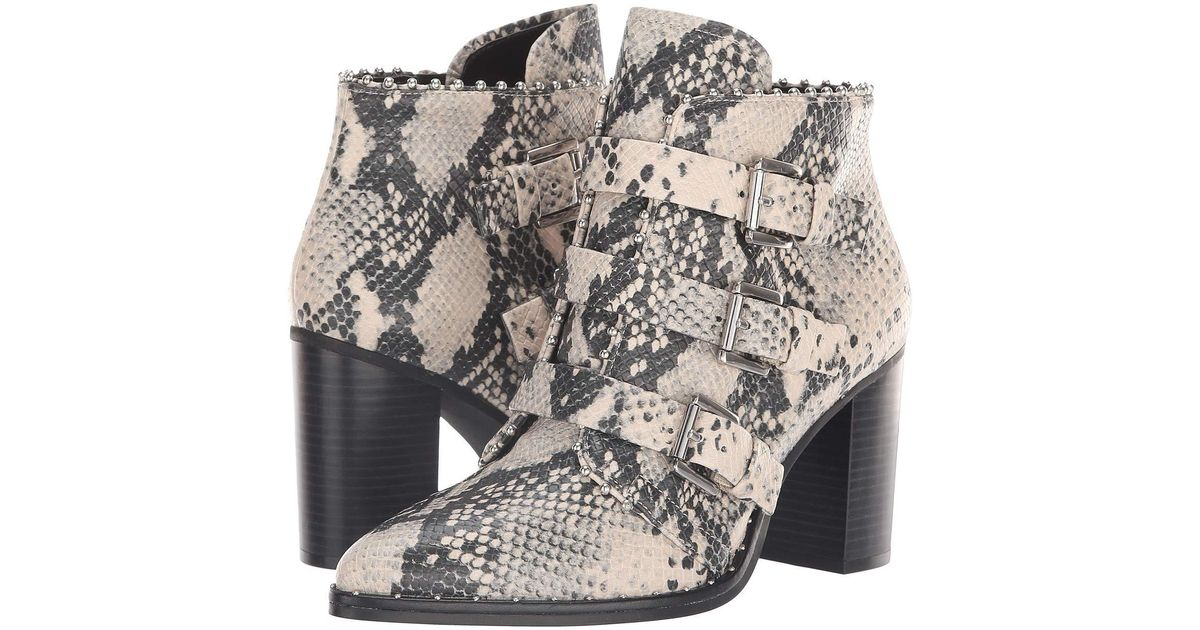 c222f7a1d45 Steve Madden Black Humble Bootie (natural Snake) Women's Boots