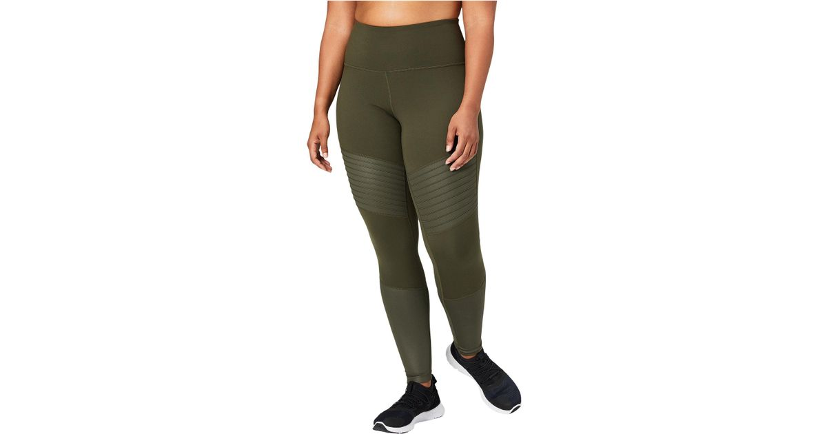 ad9ee0f3d9 Lyst - Core 10 Icon Series - The Dare Devil Plus Size Leggings (dark  Grey dark Grey Shine) Women s Workout in Green
