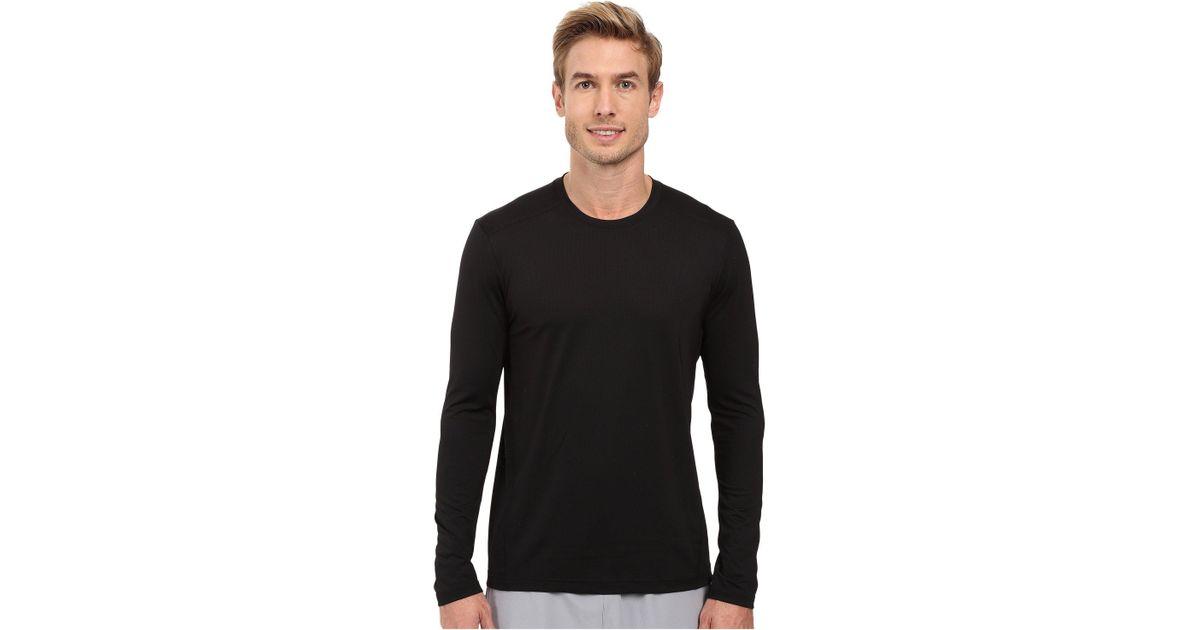 Adidas Black Climacool Single Long Sleeve Crew for men
