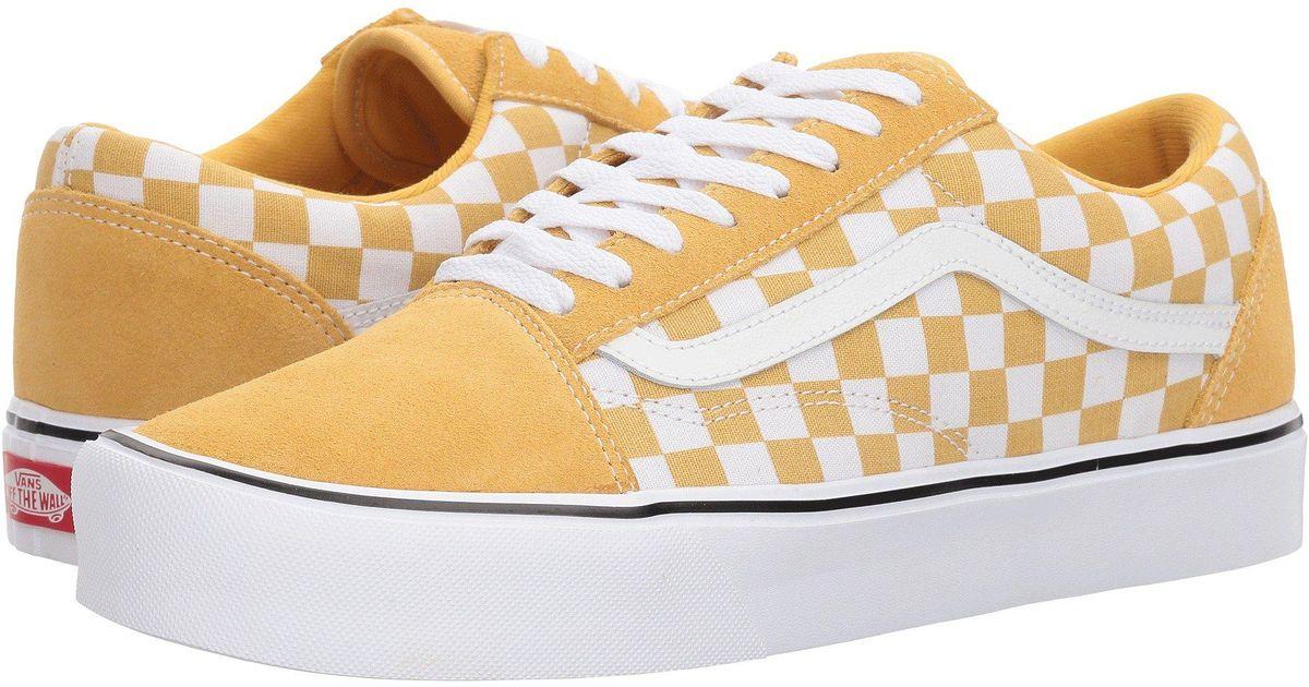 Lyst - Vans Old Skool Lite ((checkerboard) Black white) Skate Shoes in White  for Men 6e2632fbe