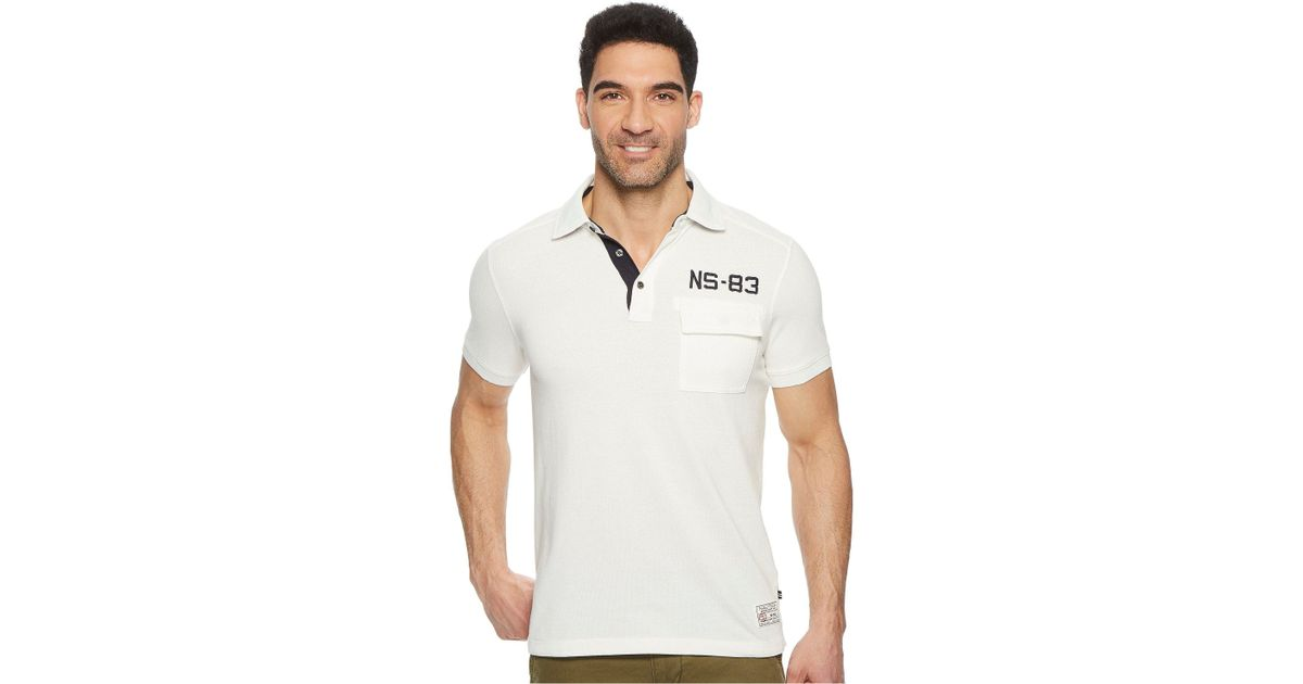Lyst nautica short sleeve sail applique polo in white for men