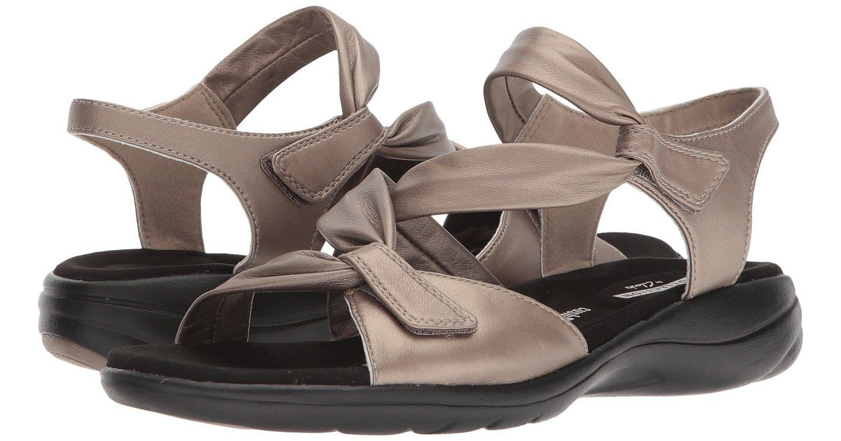 b927dcca21a Lyst - Clarks Saylie Moon (navy Leather) Women s Sandals - Save 21%